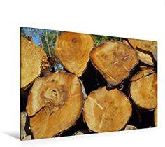Premium Textil-Leinwand 120 x 80 cm Quer-Format gefällte Baumstämme am Wegesrand, Schottland Firewood, Texture, Crafts, Scotland, Canvas, Surface Finish, Woodburning, Manualidades, Handmade Crafts