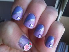 31 Day Nail Art Challenge: Violet Nails by AyDiXIII, via Flickr