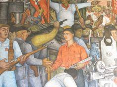 Murales de Diego Rivera en la Secretaría de Educación Pública: frida