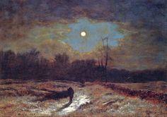 George Inness (American Hudson River School Tonalist Painter, 1825-1894)) Christmas Eve