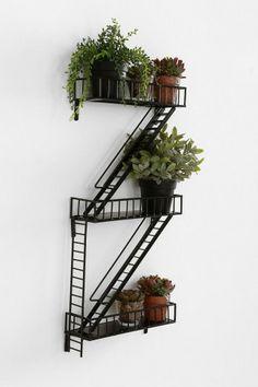 : ) Fire Escape Wall Shelf