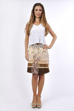 Savage Culture: Chocolate Bellini Skirt Tonia, only on wildcurves.com!