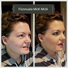 Before & After - wedding make up!