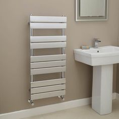 Lorenzo Beta Heat 1000 x 450mm Chrome Heated Towel Rail  - Stainless Steel Bathroom Radiators - Better Bathrooms