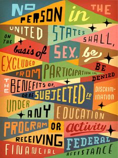{40 year anniversary of Title IX for More Magazine. Art Direction by Kevin Brainard.}