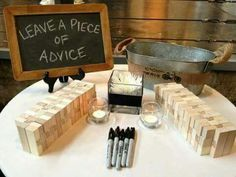 Instead of a guest book... love this!