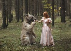 The Moscow-based photographer specializes in taking photos that seem to be straight out of a fairy tale.