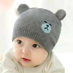 Original New Kids Beanie Winter Cotton Embroidery Crown Hats Newborn Baby Skullies Beanies Knitted Cap Girls Boys Autumn Solid Soft Hat To Enjoy High Reputation In The International Market Apparel Accessories