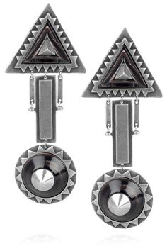 YUM THESE EARRINGS!!! THOUGH THE NAVAJO TREND IT ALSO HAS AN ART DECO VIBE TO IT AND I YUM ART DECO MUCH!!!