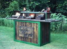 Rustic custom table - farmhouse furniture - portable for display booth. $1,250.00, via Etsy.