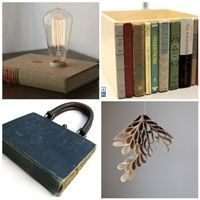 a collection of repurposed and recycled book projects. #repurposed #recycled #books