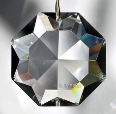 Crown Diamond Shaped Star 40mm Austrian Crystal Prism SunCatcher 1-12 inches