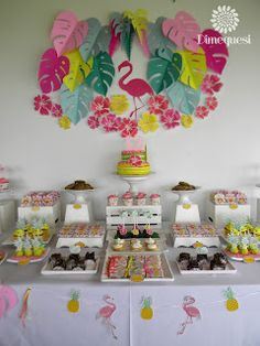 Dimequesi: Flamenco tropical Flamenco Party, Party In A Box, Minnie, Irene, Birthdays, Baby Shower, Candy, Paper, 1st Birthdays