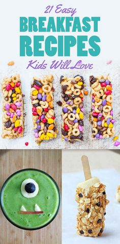 21 Breakfast Recipes to make the kids morning! CUTE ideas!