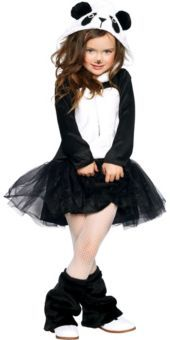 Girls Pretty Panda Costume *already have a panda had and black tutu... just need tights, a sweatshirt and leg warmers.