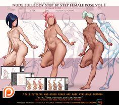 fullbody female pose step by step .promo. by sakimichan.deviantart.com on @DeviantArt