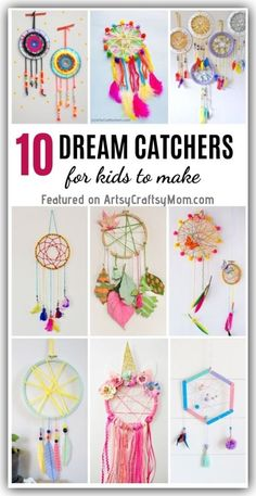 Hold on to the good dreams and let go of the bad ones with these DIY Dream Catchers! Easy and pretty projects that are perfect for World Dream Day. dream catcher 10 DIY Dream Catchers for Kids to Make Kids Crafts, Diy Crafts To Sell, Craft Projects, Arts And Crafts, Paper Crafts, Diy Crafts For Your Room, Teen Girl Crafts, Diy Dream Catcher For Kids, Dream Catcher Craft