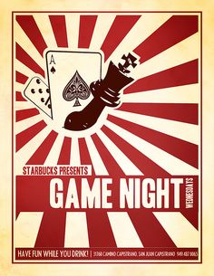 Poker Night Flyer Template | Texts, Bar and Card designs