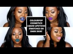 New! Colourpop Cosmetics LE Liquid Lipsticks (on Dark Skin) | #thepaintedlipsproject - YouTube