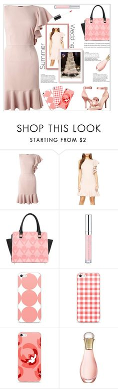 """Going To A Summer Weddings"" by atelier-briella ❤ liked on Polyvore featuring Miss Selfridge, Essence, Christian Dior, Bare Escentuals, chic, Elegance and summerweddings"