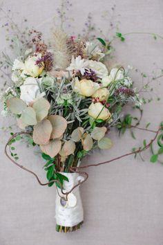 Eucalyptus and wildflowers: http://www.stylemepretty.com/destination-weddings/2015/05/27/romantic-secret-garden-inspired-london-wedding/   Photography: Catherine Mead - http://photographybycatherine.co.uk/