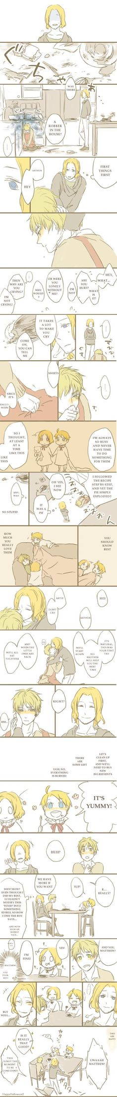 FACE Family fancomic featuring a rather...interesting dinner. - Art by あまの on Pixiv, translated by Hitsu