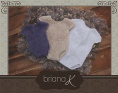 Knitting pattern for Onesies in a delicate yarn add such sweetness to little newborns and infants.