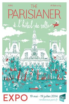 affiche de Wassim Boutaleb The Parisianer à l'Hôtel de Ville jusqu'au 19 juillet 2014.