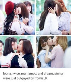 Best 10 Woaahh uhh anyone wanna tell me who dis cute ass girls are? What kpop group are they?Com – SkillOfKing. Yuri, Kpop Girl Groups, Kpop Girls, Lgbt, Girl Group Pictures, Kdrama Memes, Lesbians Kissing, Cute Lesbian Couples, Asian Lingerie