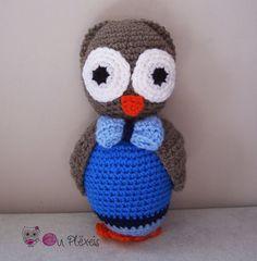 Owl Amigurumi, Crochet Owl Stuffed Animal, Kids Toy, Nursery Toy, Owl Plush Amigurumi Crochet Stuffed Animal, Baby Sleeping Toy, by Ouplexeis on Etsy