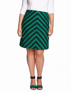 Stripe Ponte A-line Skirt | Plus Size Pencil Skirts | eloquii by THE LIMITED