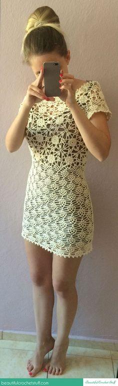 White Lace Dress Photo Tutorial + Diagrams
