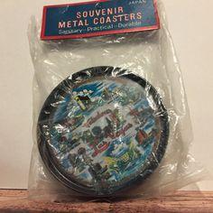 Las Vegas Souvenir Metal Drink Coasters by ColsonsCollectibles