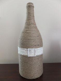 twine wine bottles - unlimited ways to dress them up!