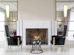 Like this fireplace treatment