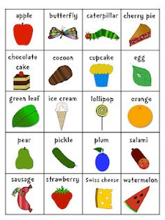 """""""The Very Hungry Caterpillar"""" visuals."""