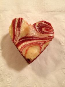 Red Velvet Marble Cheesecake Hearts