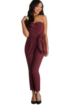 Merlot to Love Jumpsuit, #ModCloth