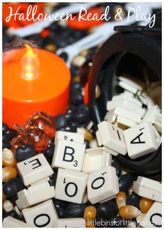 //  Alphabet Halloween Sensory Bin Halloween Read And Play Blog Hop   Hands On Sensory Activity For Learning And Play Halloween is so much fun and the perfect opportunity to build an easy Halloween sensory bin to go with favorite books. Make learning letters and letter sounds fun when you ...