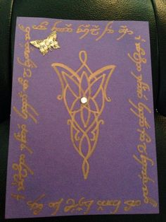 Lord of the rings wedding invites - I want to incorporate the evenstar symbol in my wedding somehow