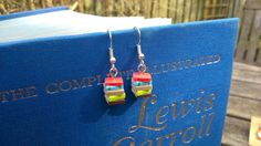 Love to read? Love someone who reads? Here is a perfect gift for the book-lover in your life!  These tiny earrings are made from polymer clay and