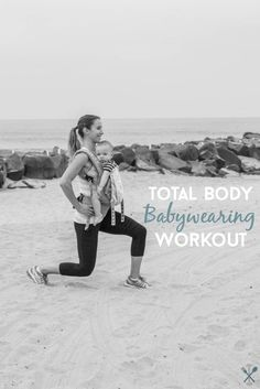 Workout with baby and feel the upper and lower body burn! This total body babywearing workout is perfect for busy, babywearing moms.