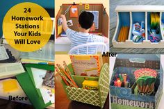 24 Homework Stations Kids Will Beg to Use