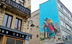 Thorgal./ Brussel...Thorgal, de bekende held ontsproten uit de verbeelding van Jean Van Hamme en Grzegorz Rosinki, vult het stripmuur-parcours van de Stad Brussel aan. Hij siert de 49ste stripmuur sinds de oprichting van het parcours in 1996.