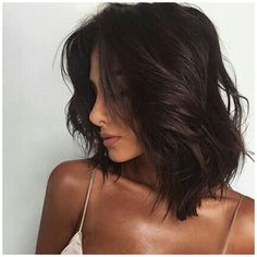Hair Color Dark, Brown Hair Colors, Hair Color Ideas For Dark Hair, Lob Styling, Styling Tips, Chocolate Brown Hair, Castaño Chocolate, Delicious Chocolate, Corte Y Color