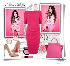 """Pink PINK"" by meghna2014 ❤ liked on Polyvore featuring Balmain, Olivia Pratt, Bobbi Brown Cosmetics, Christian Louboutin, Ray-Ban, ZAC Zac Posen, Bling Jewelry, Ilia and IWearPinkFor"