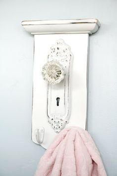 Shabby Chic Towel Hanger