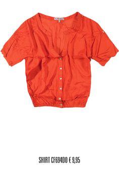 alcott orange shirt for woman www.alcott.eu