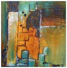 Abstract: Collage und Spachteln, Spackling