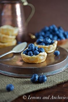 Fresh Blueberry Mini Tarts: These little tarts can be made ahead of time and assembled on the day of your party.